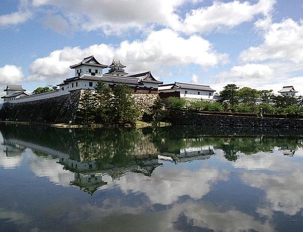 Temple Shrine Castle Fortress Japan Lake Asia Orie