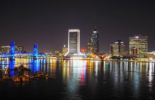 Jacksonville Buildings Architecture Night Nightly
