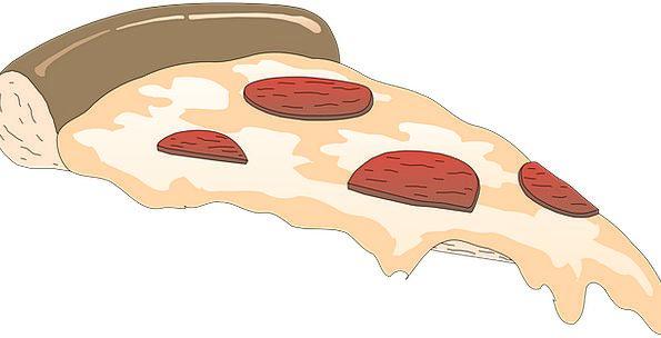 Pizza Share Cheesy Tacky Slice Tomatoes Fast Food