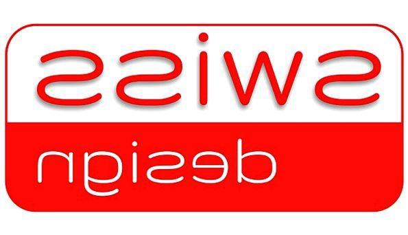 Swiss Design Writing Red Bloodshot Lettering White