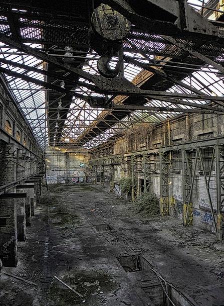 Industrial Hall Factory Sweatshop Factory Building