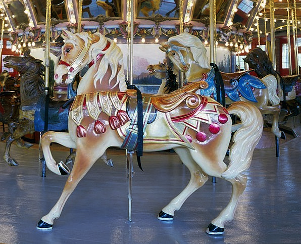 Horse Mount Amusement Laughter Carousel Enjoyment