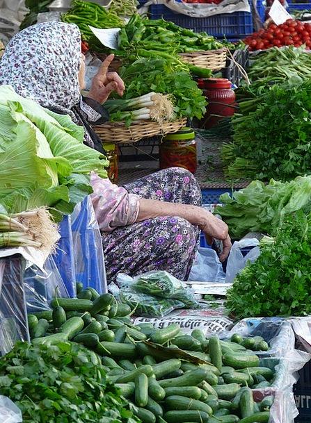 Vegetable Market Market Marketplace Gemuesehaendle