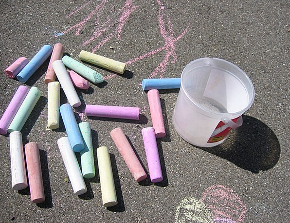 Street Chalk Write Colorful Interesting Chalk Clut