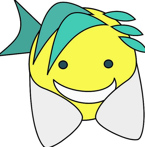 Mermaid Content Blue Azure Happy Young Yellow Crea