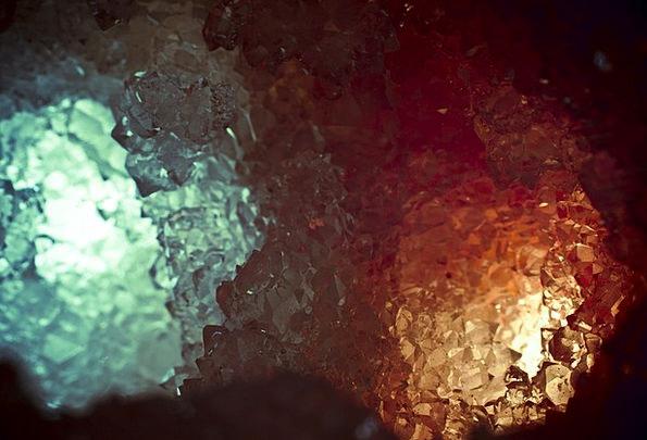 Crystal Mineral Cavern Red Bloodshot Cave Dark Ora
