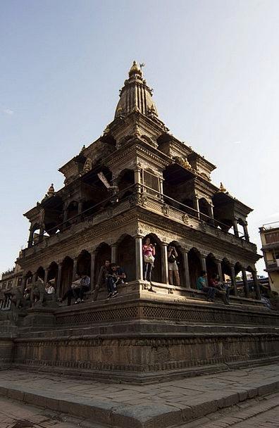 Temple Shrine Krishna Mandir Patan Stone Pebble Wo