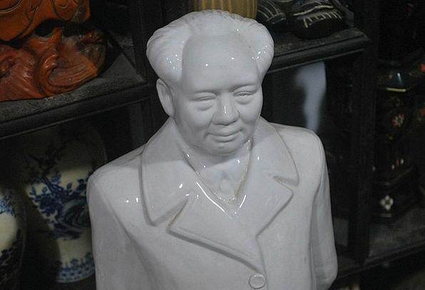 Mao Chairman Zedong Ceramic Earthenware Statue Fig