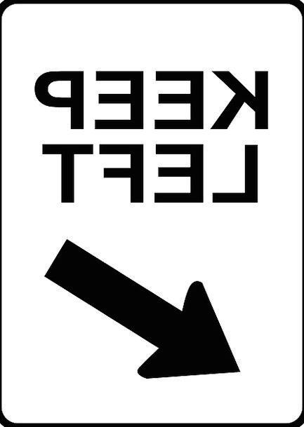 Keep Save Traffic Left-hand Transportation Arrow M