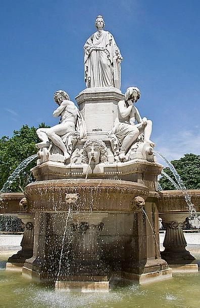Fountain Cascade Folklore France Mythology Statue
