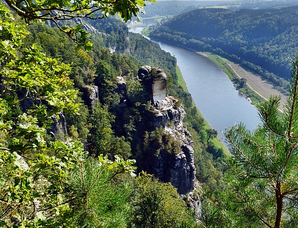 View Of The Bastei To The Elbe Landscapes Nature L