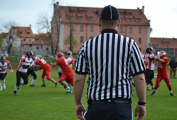Referee Arbitrator American Football Black And Whi