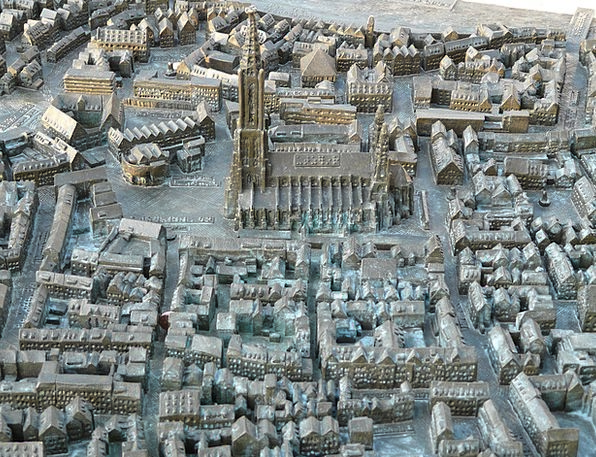 Relief Respite Chart Ulm Cathedral Map Visually Im