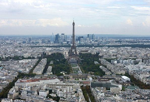 Eiffel Tower Montparnasse Paris France