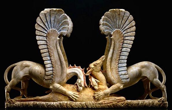 Marble Toy Ancient Greek Trapezophoros Marble Carv