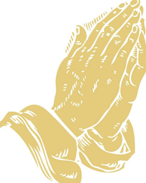 Folded Doubled Pointers Praying Requesting Hands P