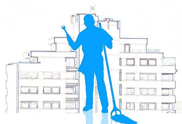 Janitor Custodian Buildings Architecture Clean Spo