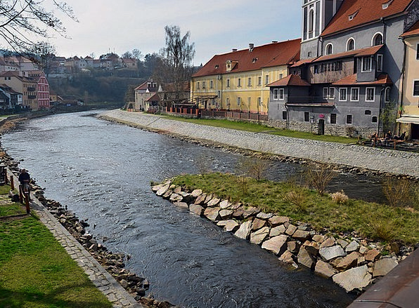 River Stream Krumlov Czech View Opinion