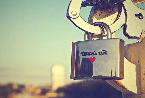 Padlock Locked Protected Lock Heart Emotion Privac
