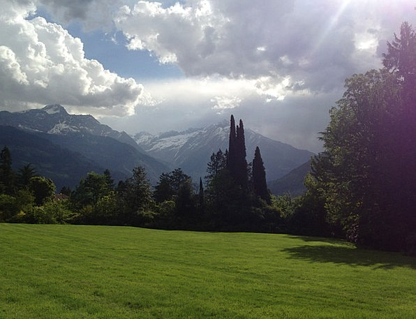 South Tyrol Landscapes Nature Meadow Field Meran V