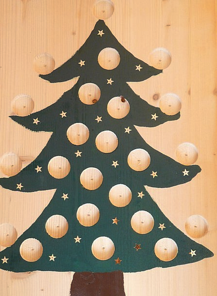 Christmas Tree Advent Arrival Advent Calendar Hole