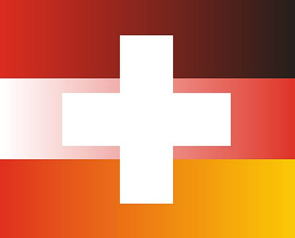 Flag Standard Mixture Germany Combination Switzerl
