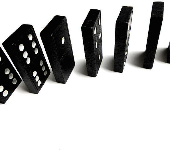 Dominoes Stand-up Row Noise Standing Balance Equil