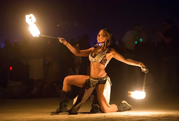 Fire Dancer Fashion Passion Beauty Artists Perform