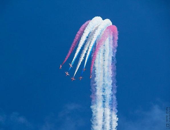 Fighter Jet Red Arrows Flugshow