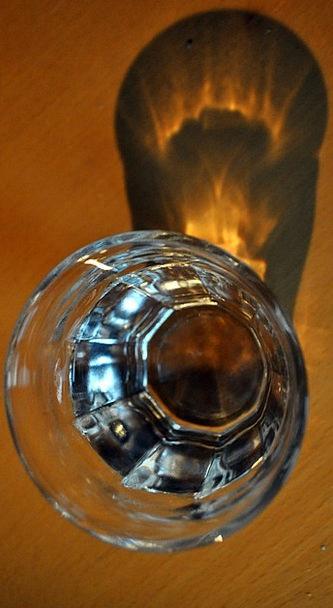 Glass Cut-glass Gumshoe Reflection Likeness Shadow