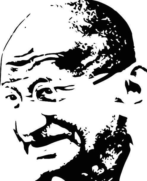 Mahatma Sketch Draft Gandhi India March Salt Tax P
