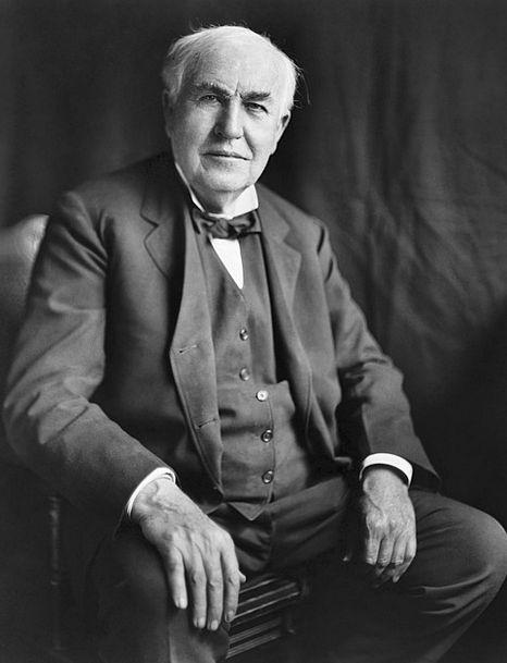Thomas Alva Edison Discoverer 1922 Inventor Portra