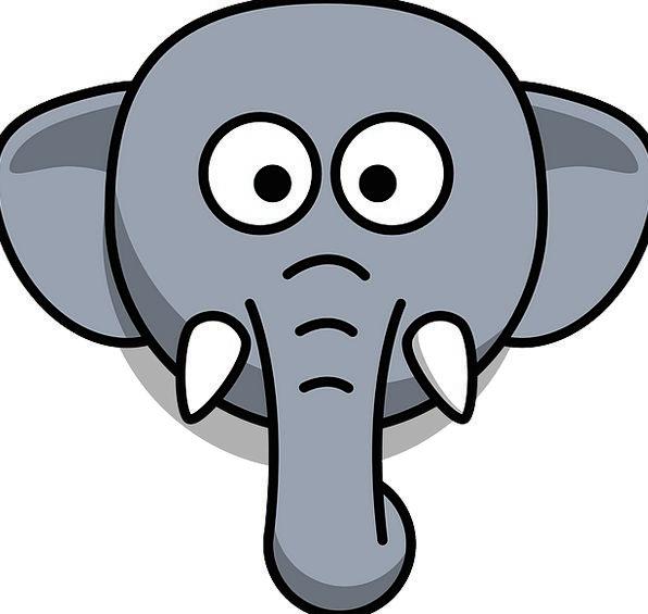Elephant Monster Skull Stupid Unwise Head Cartoon