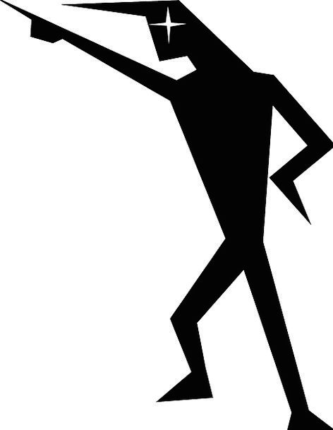 man gentleman outline pointing mortar silhouette stick figure