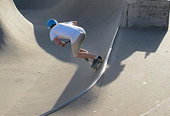 Scooting Rushing Skateboard Half Pipe Youth Childh