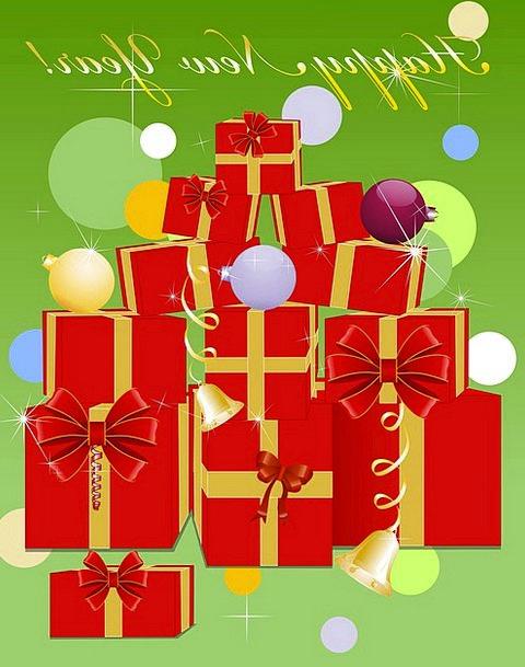 Gifts Handouts Holiday Break New Year Congratulati