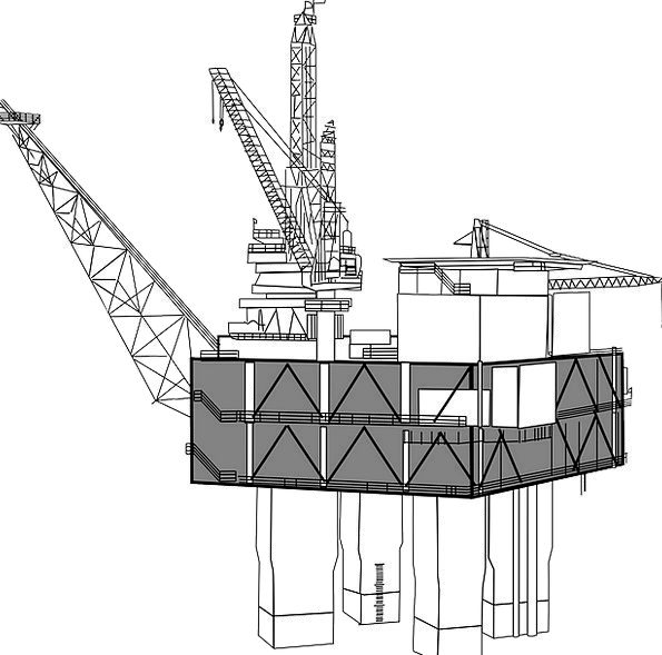 Oil Rig Buildings Boring Architecture Offshore Dri