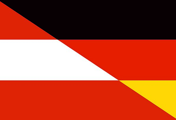 German Hybrid Cross Austria Flag Standard Country