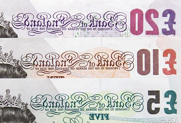 Bank Set Finance Investment Business Banknote Bill
