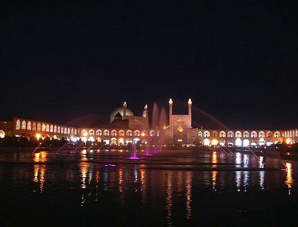 Iran Water Aquatic Mosque Beautiful Night Nightly