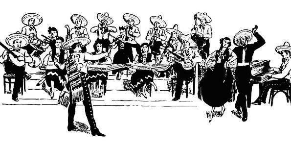 Orchestra Group Menfolk Dancing Bopping Men Free V