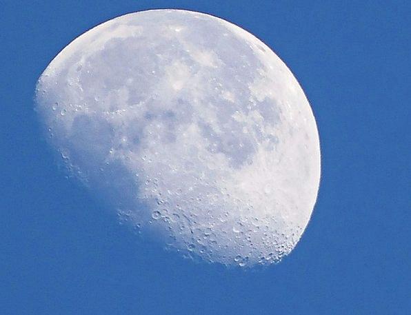 Moon Romanticize Sky Blue Daytime Moon Silver Moon