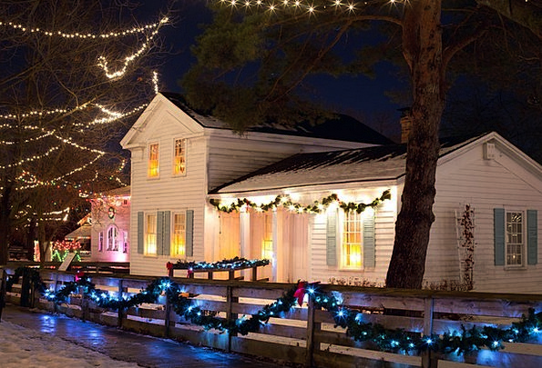 Christmas House Buildings Nightly Architecture Xma