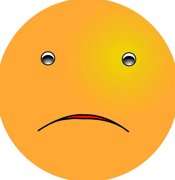 Emoticon Unhappy Expression Look Sad Sadness Blues