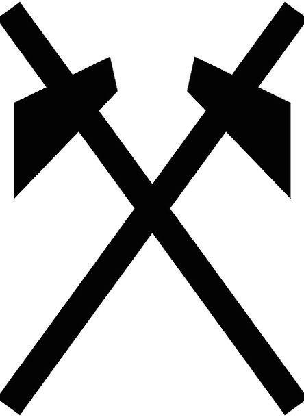 Mine Pit Craft Effort Industry Symbol Sign Work In