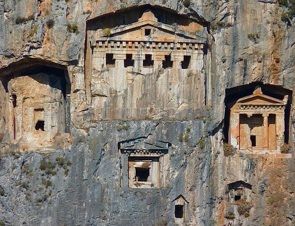 Rock Tombs Rock Pillar Caves Buildings Ruins Histo