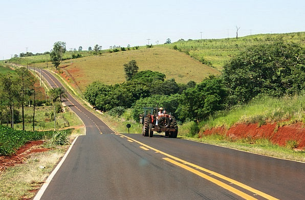 Tractor São Paulo The Service Road Agriculture Far