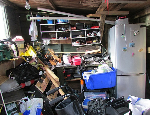 Clutter Craft Untidiness Industry Garden Shed Mess