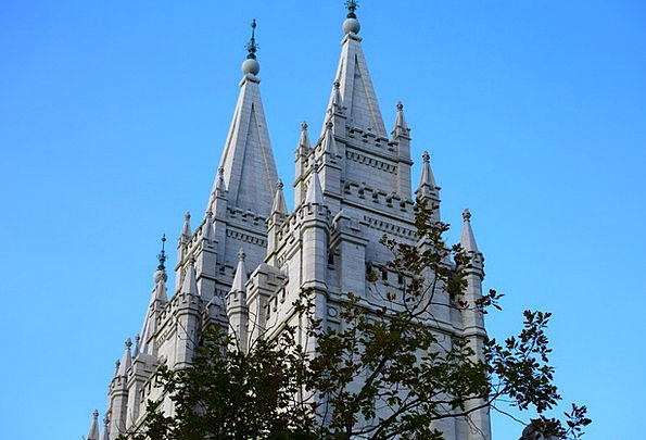 Mormon Shrine Tower Barbican Temple Salt Lake City