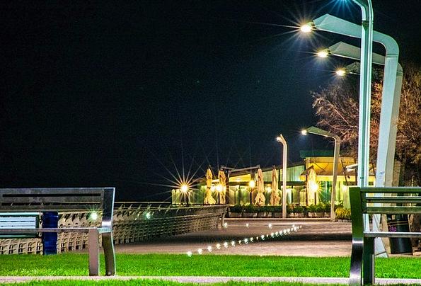 Evening Twilight Walkway Night Landscape Promenade